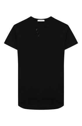 Детский хлопковый пуловер PAOLO PECORA MILANO черного цвета, арт. PP2604/8A-12A   Фото 1