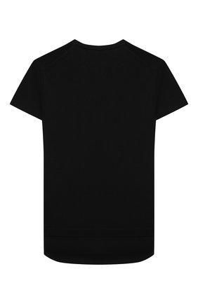 Детский хлопковый пуловер PAOLO PECORA MILANO черного цвета, арт. PP2604/8A-12A   Фото 2