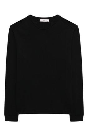 Детский хлопковый пуловер PAOLO PECORA MILANO черного цвета, арт. PP2606/8A-12A   Фото 1
