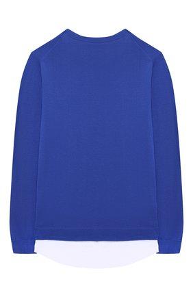 Детский хлопковый пуловер PAOLO PECORA MILANO синего цвета, арт. PP2608/8A-12A | Фото 2