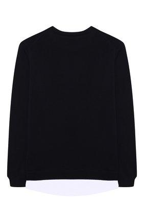 Детский хлопковый пуловер PAOLO PECORA MILANO темно-синего цвета, арт. PP2608/14A-16A   Фото 2