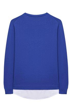 Детский хлопковый пуловер PAOLO PECORA MILANO синего цвета, арт. PP2608/14A-16A   Фото 2