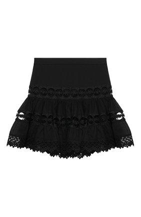 Детская хлопковая юбка CHARO RUIZ IBIZA черного цвета, арт. 9741/4-8 | Фото 1