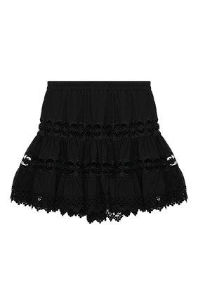 Детская хлопковая юбка CHARO RUIZ IBIZA черного цвета, арт. 9741/4-8 | Фото 2