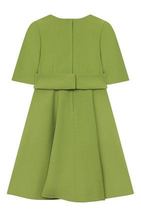 Детское платье DOLCE & GABBANA зеленого цвета, арт. L52DS3/FURDV/2-6 | Фото 2 (Материал внешний: Вискоза, Синтетический материал; Материал подклада: Вискоза; Рукава: Короткие; Девочки Кросс-КТ: Платье-одежда; Ростовка одежда: 2 года | 92 см, 3 года | 98 см, 4 года | 104 см, 5 лет | 110 см, 6 лет | 116 см)