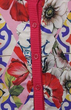 Детский кардиган из хлопка и шелка DOLCE & GABBANA разноцветного цвета, арт. L2KWD5/JACJV | Фото 3