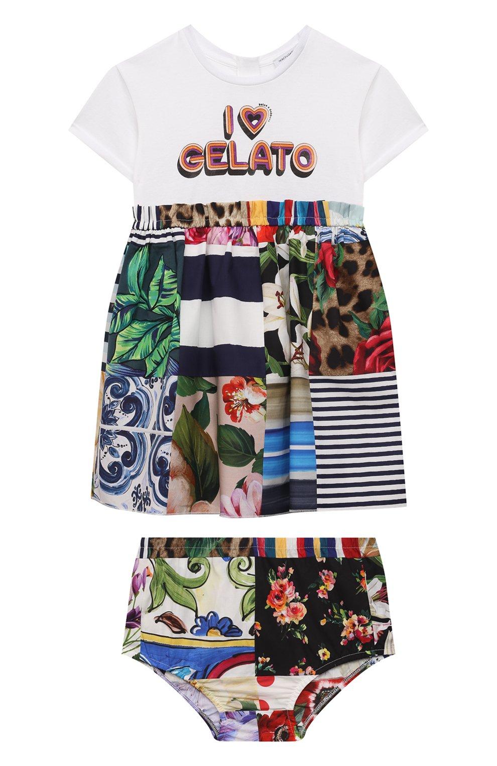 Женский комплект из платья и шорт DOLCE & GABBANA разноцветного цвета, арт. L2JD2L/G7YPG | Фото 1