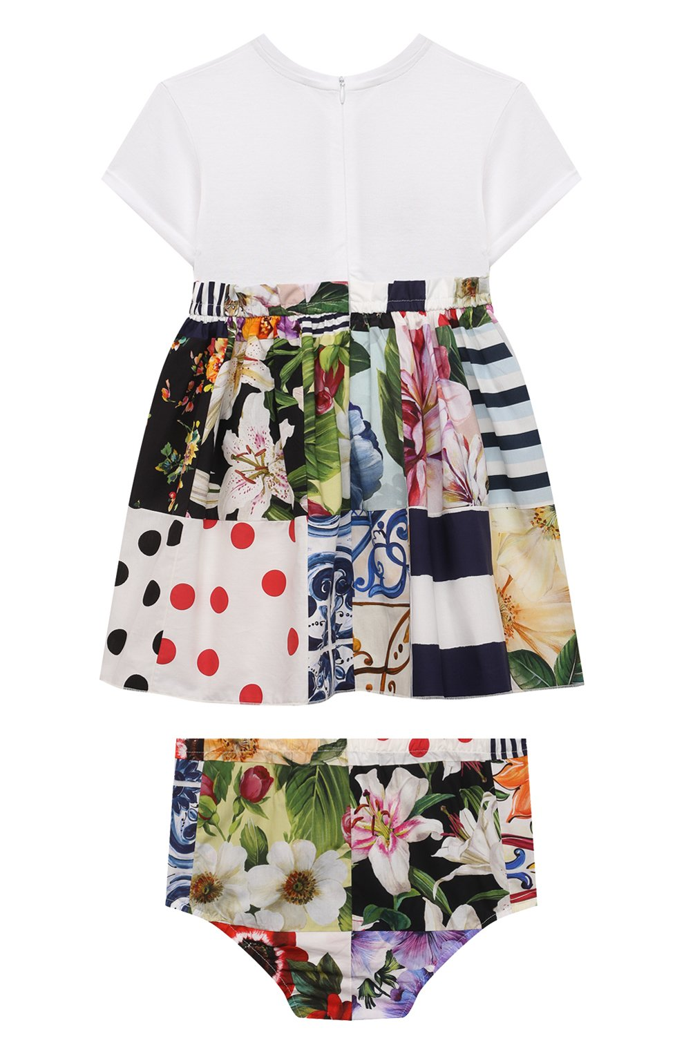 Женский комплект из платья и шорт DOLCE & GABBANA разноцветного цвета, арт. L2JD2L/G7YPG | Фото 2