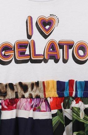 Женский комплект из платья и шорт DOLCE & GABBANA разноцветного цвета, арт. L2JD2L/G7YPG | Фото 3