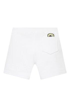 Детские хлопковые шорты DSQUARED2 белого цвета, арт. DQ0333-D003G | Фото 2