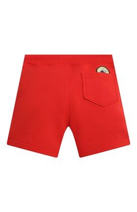 Детские хлопковые шорты DSQUARED2 красного цвета, арт. DQ0333-D003G | Фото 2