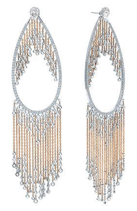 Женские серьги MIKE JOSEPH розового и белого золота цвета, арт. EAR219   Фото 2