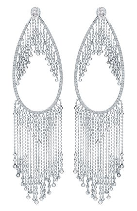 Женские серьги MIKE JOSEPH белого золота цвета, арт. EAR219(W)   Фото 1