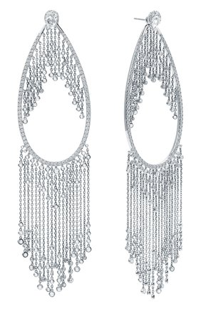 Женские серьги MIKE JOSEPH белого золота цвета, арт. EAR219(W)   Фото 2