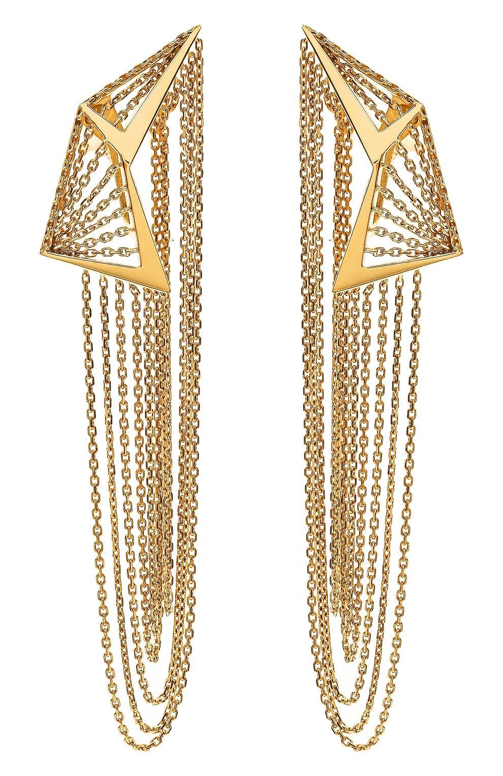 Женские серьги MIKE JOSEPH бесцветного цвета, арт. EAR251 | Фото 1 (Материал сплава: Желтое золото; Драгоценные камни: Без драгоценных камней)