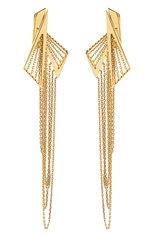Женские серьги MIKE JOSEPH бесцветного цвета, арт. EAR253 | Фото 1 (Драгоценные камни: Без драгоценных камней; Материал сплава: Желтое золото)