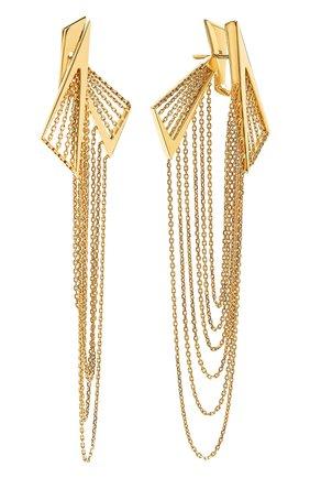 Женские серьги MIKE JOSEPH желтого золота цвета, арт. EAR253   Фото 2