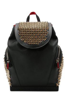 Мужской кожаный рюкзак explorafunk CHRISTIAN LOUBOUTIN черного цвета, арт. 1215153/EXPL0RAFUNK S | Фото 1