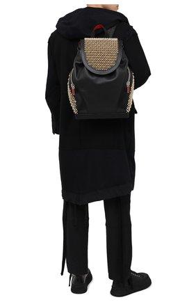 Мужской кожаный рюкзак explorafunk CHRISTIAN LOUBOUTIN черного цвета, арт. 1215153/EXPL0RAFUNK S | Фото 2
