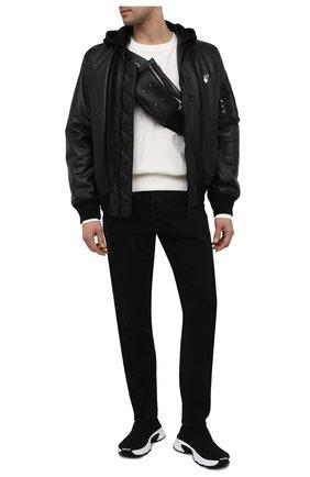 Мужские текстильные кроссовки speed 3.0 BALENCIAGA черного цвета, арт. 654532/W2DN1 | Фото 2