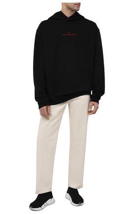 Мужские текстильные кроссовки speed 2.0 BALENCIAGA черного цвета, арт. 654020/W2DI2 | Фото 2