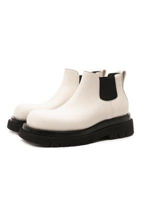 Мужские кожаные челси lug BOTTEGA VENETA кремвого цвета, арт. 634403/VBS50 | Фото 1 (Материал внутренний: Натуральная кожа; Мужское Кросс-КТ: Сапоги-обувь, Челси-обувь; Подошва: Массивная; Каблук высота: Высокий)