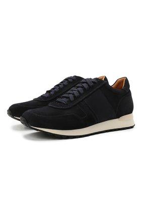 Мужские замшевые кроссовки RALPH LAUREN темно-синего цвета, арт. 815829397 | Фото 1