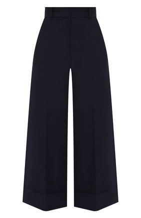 Женские хлопковые брюки ALEXANDER MCQUEEN темно-синего цвета, арт. 649847/QFAAH | Фото 1