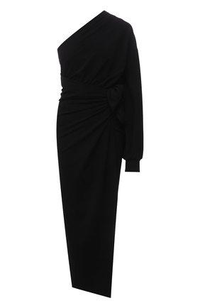 Женское платье из вискозы BALENCIAGA черного цвета, арт. 659074/TJV02 | Фото 1
