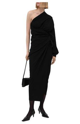 Женское платье из вискозы BALENCIAGA черного цвета, арт. 659074/TJV02 | Фото 2