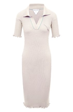 Женское шерстяное платье BOTTEGA VENETA белого цвета, арт. 656278/V0QZ0 | Фото 1