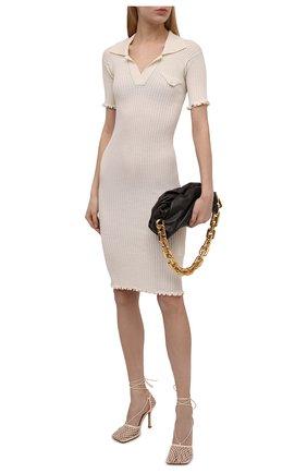 Женское шерстяное платье BOTTEGA VENETA белого цвета, арт. 656278/V0QZ0 | Фото 2
