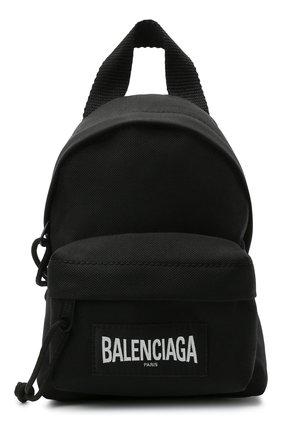 Женский рюкзак explorer BALENCIAGA черного цвета, арт. 656060/2JMRX | Фото 1 (Размер: mini; Материал: Текстиль; Ремень/цепочка: На ремешке; Стили: Спорт)