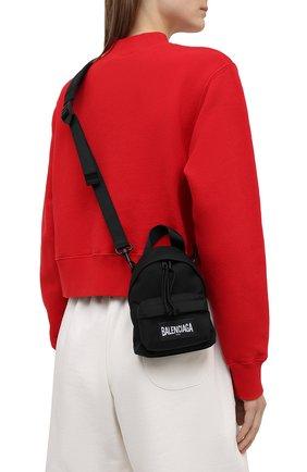 Женский рюкзак explorer BALENCIAGA черного цвета, арт. 656060/2JMRX | Фото 2 (Размер: mini; Материал: Текстиль; Ремень/цепочка: На ремешке; Стили: Спорт)