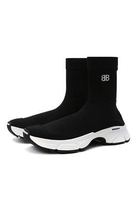 Женские текстильные кроссовки speed 3.0 BALENCIAGA черного цвета, арт. 654466/W2DN1 | Фото 1