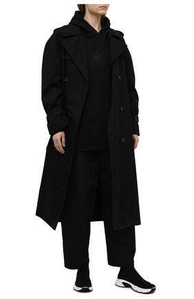 Женские текстильные кроссовки speed 3.0 BALENCIAGA черного цвета, арт. 654466/W2DN1 | Фото 2