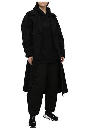 Женский хлопковое худи BALENCIAGA черного цвета, арт. 620947/TKV72 | Фото 2