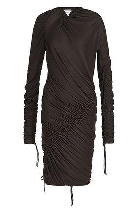 Женское платье BOTTEGA VENETA темно-коричневого цвета, арт. 660523/VKUR0 | Фото 1
