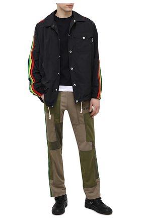 Мужская куртка PALM ANGELS черного цвета, арт. PMEA076S21FAB0021084 | Фото 2