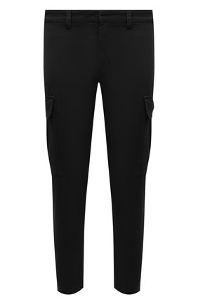 Мужские хлопковые брюки-карго ICEBERG черного цвета, арт. 21E I1P0/B180/0075 | Фото 1