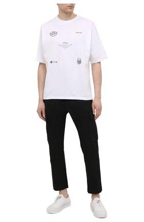 Мужские хлопковые брюки-карго ICEBERG черного цвета, арт. 21E I1P0/B180/0075 | Фото 2