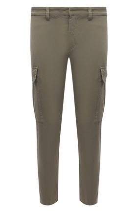 Мужские хлопковые брюки-карго ICEBERG хаки цвета, арт. 21E I1P0/B180/0075 | Фото 1