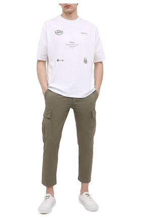 Мужские хлопковые брюки-карго ICEBERG хаки цвета, арт. 21E I1P0/B180/0075 | Фото 2