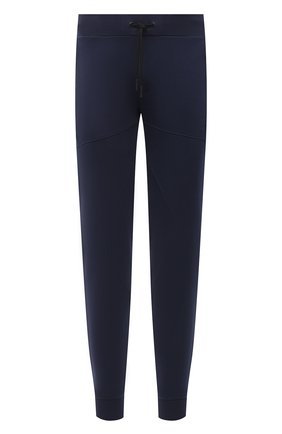 Мужские хлопковые джоггеры ICEBERG синего цвета, арт. 21E I1P0/B011/6302 | Фото 1 (Материал внешний: Хлопок; Длина (брюки, джинсы): Стандартные; Силуэт М (брюки): Джоггеры; Стили: Спорт-шик; Мужское Кросс-КТ: Брюки-трикотаж)