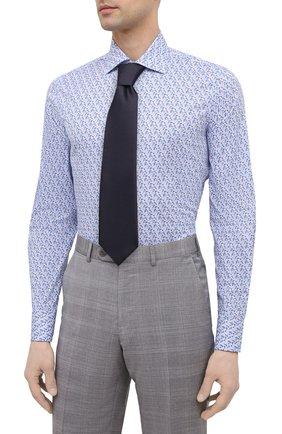 Мужская хлопковая сорочка BAGUTTA синего цвета, арт. MIAMI_EL/11101   Фото 4