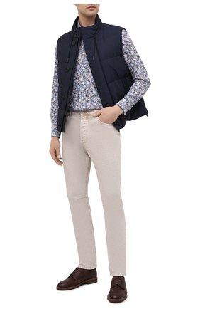 Мужская хлопковая рубашка BAGUTTA разноцветного цвета, арт. ANDREA_EBLW/11042 | Фото 2