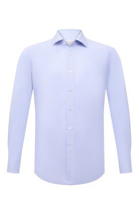 Мужская хлопковая сорочка BAGUTTA голубого цвета, арт. 380_EBL/11099 | Фото 1