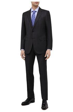 Мужская хлопковая сорочка BAGUTTA голубого цвета, арт. 380_EBL/11099 | Фото 2