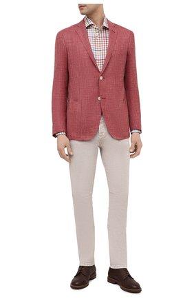 Мужская хлопковая рубашка BAGUTTA разноцветного цвета, арт. 342_EBL/11181 | Фото 2