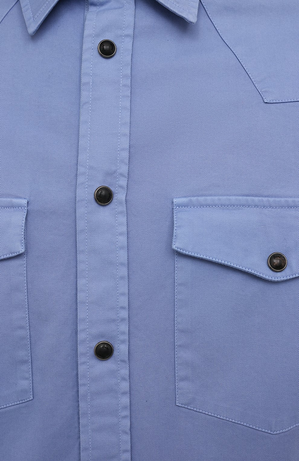 Мужская хлопковая рубашка BRIONI голубого цвета, арт. SCDQ0L/P8T01   Фото 5